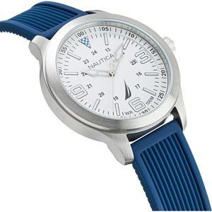 Nautica point loma classic nautical watch blue and white